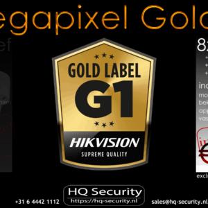 8 camera's 4 megapixel Goldlabel